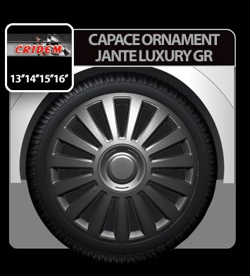 Capace ornament jante Luxury GR 4buc - Grafit - 14''