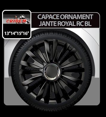 Capace ornament jante Royal RC BL 4buc - Negru - 14''