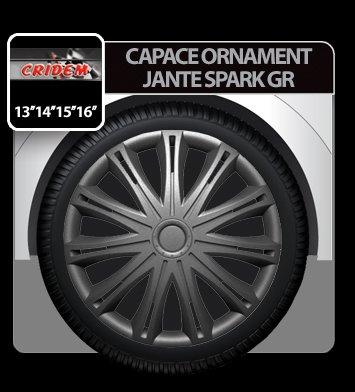 Capace ornament jante Spark GR 4buc - Grafit - 15''