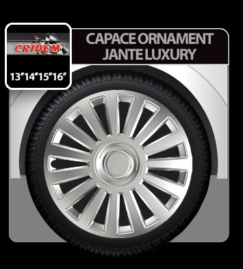 Capace ornament jante Luxury 4buc - Argintiu - 15''