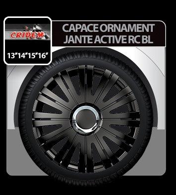 Capace ornament jante Active RC 4buc - Negru - 15''