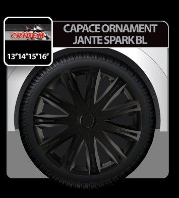 Capace ornament jante Spark BL 4buc - Negru - 16''
