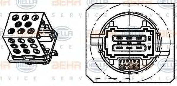 Rezistor, ventilator habitaclu