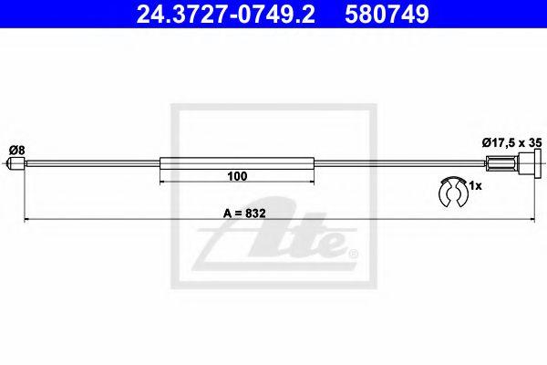 Cablu, frana de parcare